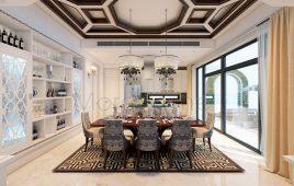 Căn biệt thự lấy cảm hứng từ biển xanh kết hợp nội thất đương đại